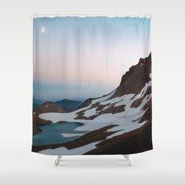 Alpine Lake Moonrise Shower Curtain