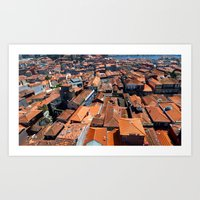 Run Across The Roofs Art Print