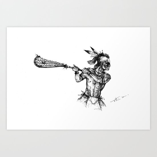 The Founder (The Art of Lax™) Art Print