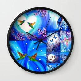 Blue designs Wall Clock