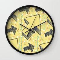 arrow Wall Clocks featuring Arrow by CottonMouth
