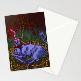 Body Farm Unicorn in Captivity Stationery Cards