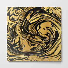 Black and Gold Marble Edition 2 Metal Print