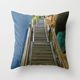 Old Cape Cod Stair Steps Throw Pillow