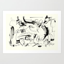 Crushed by a Bull Art Print