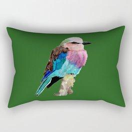 Lilac Breasted Roller Bird Rectangular Pillow