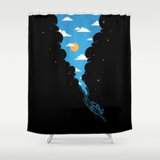 Skydiver Shower Curtain