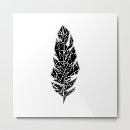 Crystal feather Metal Print