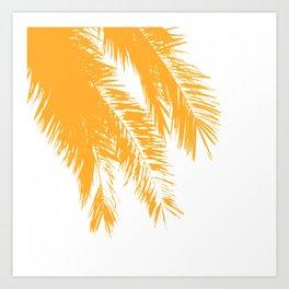 Palm Leaves - Saffron Art Print