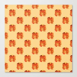 Pancake pile pattern Canvas Print