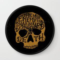 Last Enemy Wall Clock
