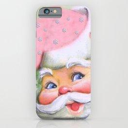 smiling retro Santa iPhone Case