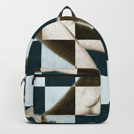 Survive Nude Woman Checkered 1 Backpack