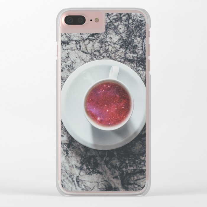 COFFEE PORTAL TO THE UNIVERSE Clear iPhone Case