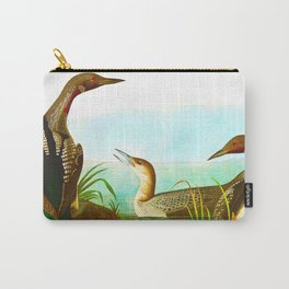 Black Throated Diver Duck Carry-All Pouch