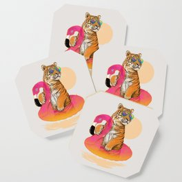 Chillin (Flamingo Tiger) Coaster