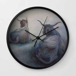 Misty Morning on Skye Wall Clock
