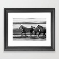 Galloping Horses Framed Art Print