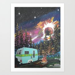Scruffy's Dream Art Print