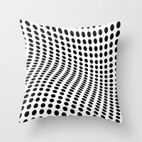 wave Throw Pillows featuring Wave by fly fly away