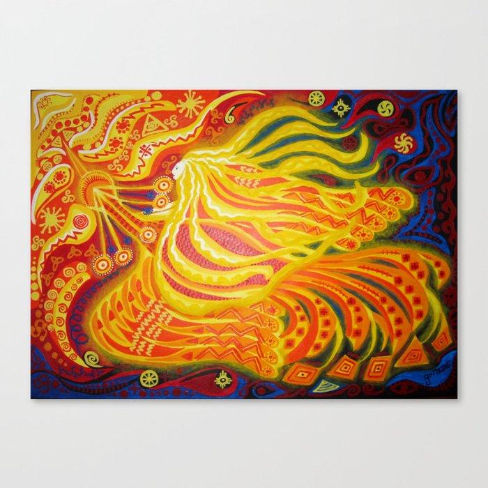 Phoenix and fairy / Tulilind ja haldjas Canvas Print