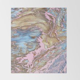 Woody Pink Throw Blanket