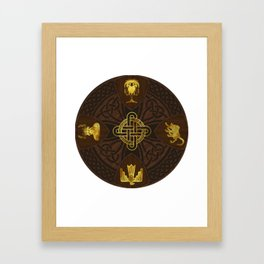Ilvermorny Knot with House Shields Framed Art Print