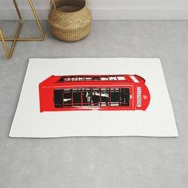 red london telephone Rug