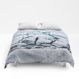 Glacial World of Iceland - Landscape Photography Comforters