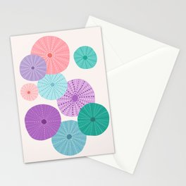 Sea Urchin in Mermaid Hues Stationery Cards