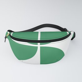 Mid Century Modern Green Square Fanny Pack