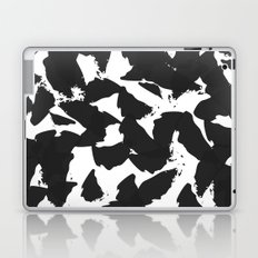 Black Bird Wings on White Laptop & iPad Skin