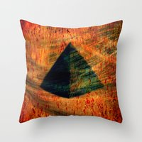 egyptian Throw Pillows featuring Egyptian wind by  Agostino Lo Coco