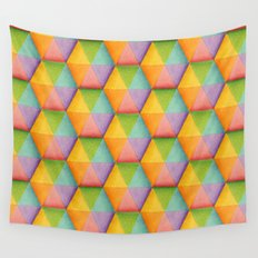 Rainbow Facets Wall Tapestry