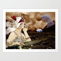 Chasing Smoke - Princess Mononoke Nouveau Art Print