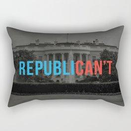RepubliCAN'T Rectangular Pillow