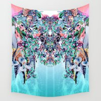 botanical Wall Tapestries featuring Botanical IV by RIZA PEKER
