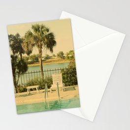 Lolita's Poolside Vacation - Beach Art Stationery Cards