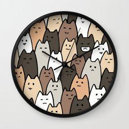 Cat brigade Wall Clock