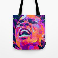 nba Tote Bags featuring ERIC BLEDSOE: NBA ILLUSTRATION V2 by mergedvisible
