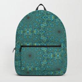 Half Drop Mandala - Teal Backpack