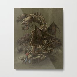 Junkyard Dragon  Metal Print