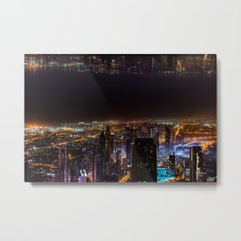Dubai, The Two Worlds Metal Print