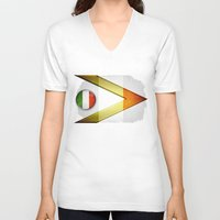 italy V-neck T-shirts featuring Italy by ilustrarte