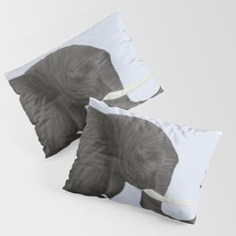 Bertha The Elephant And Her Visitor Pillow Sham