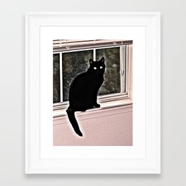 black ghost Framed Art Print