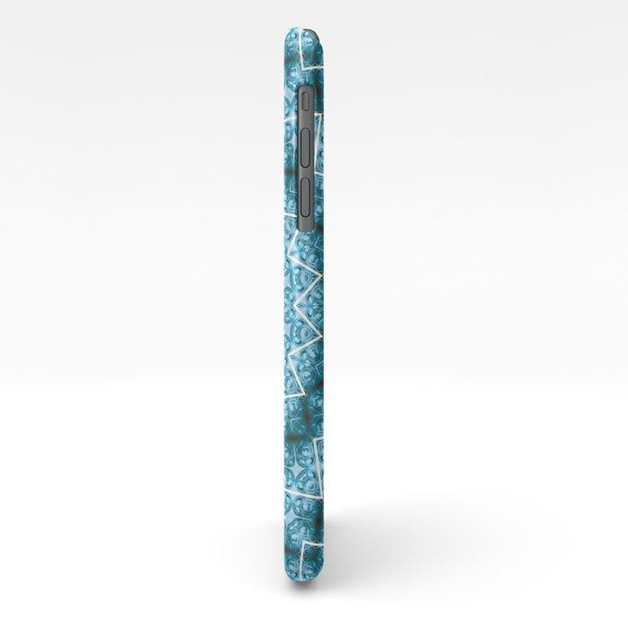 Light Blue Kaleidoscope / Mandala iPhone Case