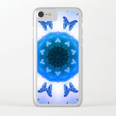 All things with wings (blue) Clear iPhone Case