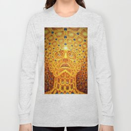 Golden Psychedelic Head Long Sleeve T-shirt