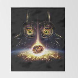 Majora's Mask Operation Moonfall Throw Blanket